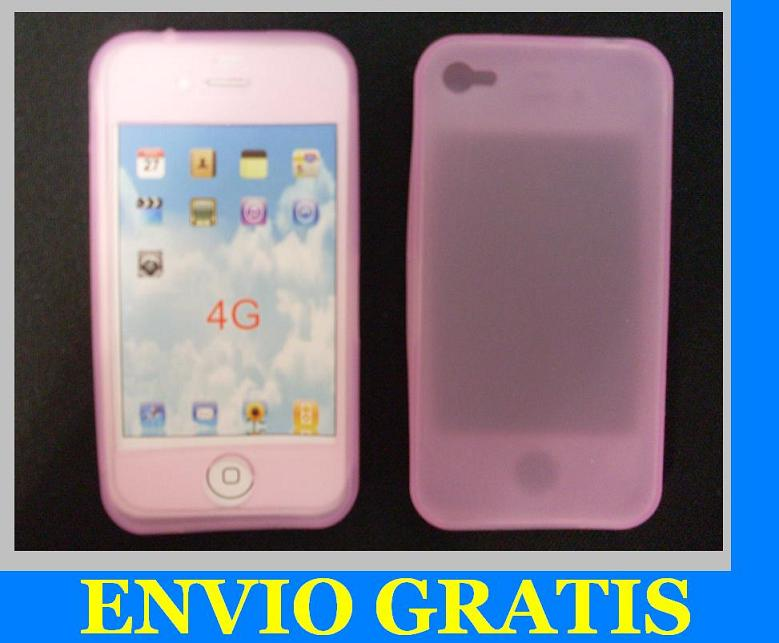 FUNDA DE SILICONA PARA APPLE IPHONE 4 4G ROSA