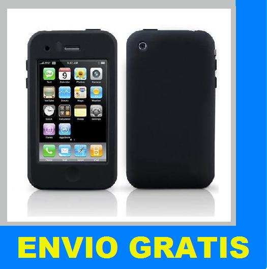 FUNDA SILICONA PARA IPHONE 3G 3GS NEGRA