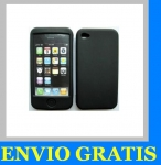 FUNDA DE SILICONA PARA APPLE IPHONE 4 4G NEGRA